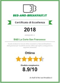 La Corte San Francesco certificato bed-and-breakfast